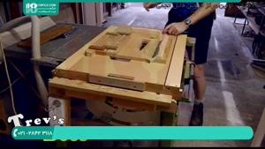 آموزش ساخت کندو عسل - برش دستگیره های دی شکل بدنه کندو