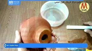 آموزش ساخت آبنما - ساخت آبنما رومیزی آسان با گلدان