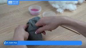 آموزش عروسک جورابی | آموزش دوخت عروسک بانی خرگوش