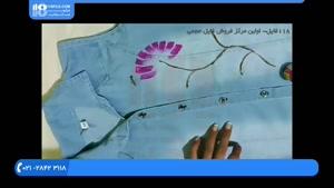 آموزش نقاشی روی پارچه - طرح گل های رنگی روی لباس جین