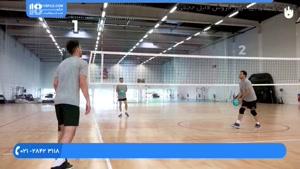 آموزش والیبال کودکان - گرم کردن سه نفره برای ضربات حمله