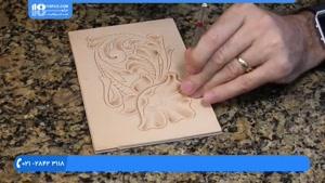 آموزش حکاکی روی چرم - حکاکی روی چرم طرح گل