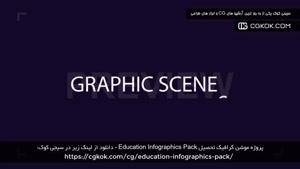پروژه موشن گرافیک تحصیل Education Infographics Pack