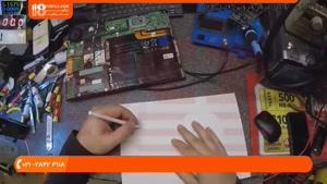 آموزش تعمیر لپ تاپ - روش تعمیر مادربرد لپ تاپ dell vostro 13