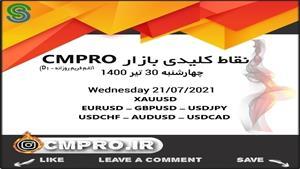 نقاط کلیدی خرید و فروش بازار CMPRO_ چهارشنبه 30 تیر 1400
