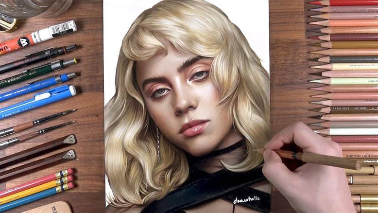 آموزش نقاشی با مداد رنگی - بیلی آیلیش