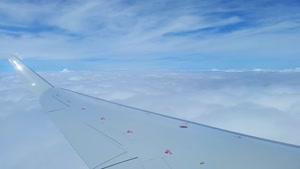 هواپیما ، بال هواپیما ، پرواز هواپیما ، هواپیما بالای ابرها