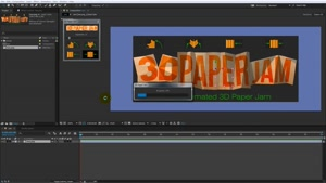 اسکریپت افترافکت برای افکت تا زدن کاغذ – 3D Paper Jam