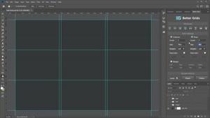 اسکریپت ساخت گرید و لی اوت در فتوشاپ – Better Grids – Layout