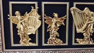 تابلو پلی استر فرشته طرح سه نوازنده – دیجی دکوری