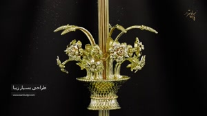 میز عسلی جدید طرح گل محصول جدید پارس لوستر