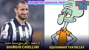 فوتبالیست های مشهوری که شبیه شخصیت های کارتونی معروف هستند